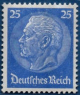 """Germany 1933 25 Pf Hindenburg Lebhaftultramarin, Geprüft Schlegel """"b"""" 1 Value MNH 2102.1409 - Ungebraucht"""