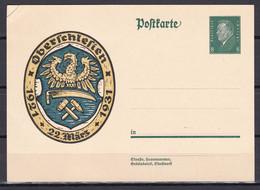Deutsches Reich - 1931 - Postkarte - Oberschlesien - Ungebr. - Stamped Stationery