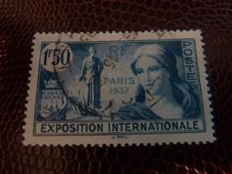 EXPOSITION Internationale De Paris - 1f 50 - Bleu-vert - Oblitéré - Année 1937 - - Gebruikt