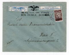 1920? KINGDOM OF SHS,BOSNIA,BOS. DUBICA TO AUSTRIA,BLACK EAGLE PHARMACY,EMIL STARWER,LETTERHEAD - Brieven En Documenten
