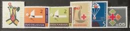 Yougoslavie 1961-1966 / Yvert Bienfaisance N°46-48 + 51 + 53 + 55 / ** - Beneficenza