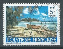 Polynésie Française YT N°136 Motu (Signature Delrieu) Oblitéré ° - Used Stamps