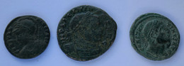 Roman Empire - 1x Licinius / 1x Constantinopolis / 1x Constantius I - F! (#L7) - 8. Der Spätrömanischen Reich (363 / 476)