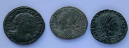 Roman Empire - 1x Constantius II. / 1x Constantinopolis / 1x Constantius II. - F! (#L13) - 8. The End Of Empire (363 AD To 476 AD)