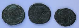Roman Empire - 1x Valentinianus II.  / 1x Urbs Roma . / 1x Constantinopolis - F! (#L15) - 8. The End Of Empire (363 AD To 476 AD)
