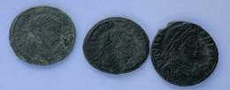 Roman Empire - 1x Constantius I. Chlorus / 1x Maximianus / 1x Valens - F! (#L18) - 8. Der Spätrömanischen Reich (363 / 476)