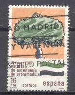 España, 1984, Edifil 2735,estaturos Autonómicos Extremadura,(usado) - 1981-90 Usados