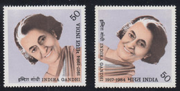 1984-INDIA-INDIRA GANDHI-2 MINT SETS** - Neufs