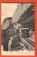 MKC-27 Chemin De Fer  Du Salève Gros Plan Deux Trains. Chateau Monnetier.Circ. 1912. Jullien 5635 - Autres Communes