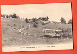 MKC-31 Chemin De Fer  Du Salève Les Treize Arbres, Train Cacao Van Houten. Circ. Sous Enveloppe En 1912. Jullien 9158 - Autres Communes
