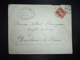 LETTRE TP SEMEUSE 10c OBL. DAGUIN 29-2 12 CAEN CALVADOS (14) Jacques REGNARD Greffier + 29 FEVRIER 1912 - Mechanical Postmarks (Other)