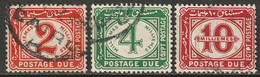 Egypt 1921 Sc J23-5  Postage Due Set Used - 1915-1921 Protectorado Británico