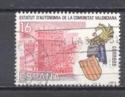 España, 1983, Edifil 2691, Estatutos De Autonomia, Comunidad Valenciana,(usado) - 1981-90 Usados