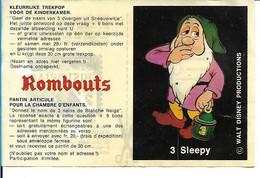 """Bon Rombouts Sleepy / Dormeur Pour Pantin Articulé """"Blanche-Neige Et Les 7 Nains"""" + 2 Points HISTORIA Walt Disney 70's - Artis Historia"""