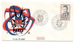 1960 -- Lettre Souvenir Foire De PARIS....  Cachet Provisoire -- Tp DEBEAU MARCHE (résistant) ............à Saisir - 1921-1960: Moderne