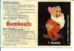 """Bon Rombouts Bashful / Timide Pour Pantin Articulé """"Blanche-Neige Et Les 7 Nains"""" + 2 Points HISTORIA Walt Disney 70's - Artis Historia"""