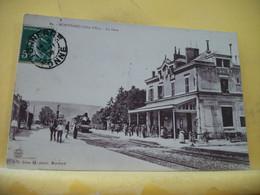 21 7029 CPA 1908 - 21 MONTBARD. LA GARE - ANIMATION. TRAIN RENTRANT EN GARE. - Montbard