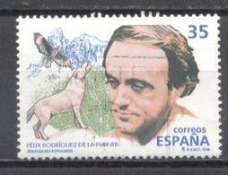 España, 1998, Edifil 3546,Personajes, Felix Rodriguez De La Fuente,(usado) - 1991-00 Oblitérés