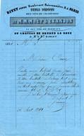 FACTURE 1851 RIVET JEUNE PARIS CHAMPAGNE MOET ET CHANDON BORDEAUX CHATEAU DE GRUAU LA ROSE - 1800 – 1899