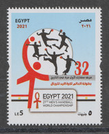 Egypt - 2021 - ( 27th Men's Handball World Championship ) - MNH** - Pallamano