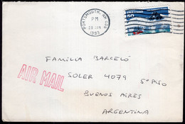 USA - 1993 - Letter - Via Air Mail - Sent To Argentina - A1RR2 - Cartas