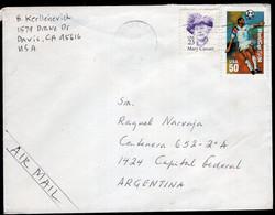 USA - 1995 - Letter - Via Air Mail - Sent To Argentina - A1RR2 - Cartas