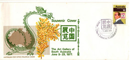 Australia PM 533 1977  Postmark Collection,The Chinese Exhibition,souvenir Cover - Poststempel
