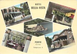"""CPSM FRANCE 20 """"Corse, Porto, Hôtel Bella Vista"""" - Otros Municipios"""