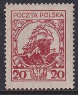 POLAND 1925 Fi 211 II Mint Hinged - Unused Stamps