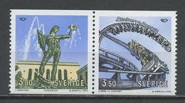 Suède - Schweden - Sweden 1993 Y&T N°1754 à 1755 - Michel N°1773 à 1774 *** - Norden 93 - Se Tenant - Unused Stamps