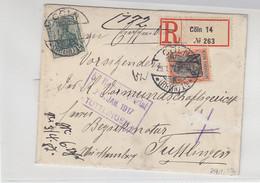 R-Brief Aus CÖLN 14 29.1.17 Nach Tuttlingen - Storia Postale