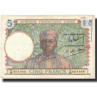Billet, Afrique-Équatoriale Française, 5 Francs, Undated (1942), KM:6a, TTB+ - Central African States