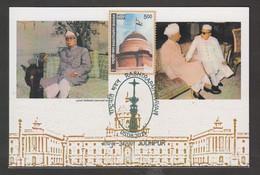 India  2011  Rashtrapati Bhawan  President  Prasad S. Raddakrishnan & Zakir Hussain  Max CArd   #  31658 D  Inde  Indien - Cartas