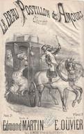 (AUT)le Beau Postillon Des Amours   , Illustration DONJEAN, Paroles EDMOND MARTIN   ; Musique E. OUVIER - Spartiti