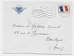FM DRAPEAU LETTRE CASTELSARRASIN 18.1.1965 LETTRE ENTETE + C. I GENIE AERO PORTE - Franquicia Militar (Sellos)