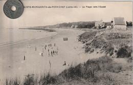 44 -Très Belle Carte Postale Ancienne De  SAINTE MARGUERITE DE PORNICHET La Plage Vers L'Ouest - Saint-Sébastien-sur-Loire