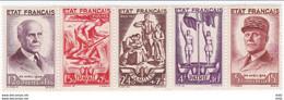 FRANCE POSTE N° 576/580 - Unused Stamps