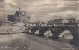 ROMA-PONTE E CASTEL SANT'ANGELO-CARTOLINA VERA FOTOGRAFIA VIAGGIATA N IL 12-4-1932 - Pontes