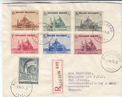 Belgique - Lettre Recom De 1938 - Oblit Koekelberg - Exp Vers Coulommiers - Basilique De Koekelberg - Valeur 65 € ? - Brieven En Documenten