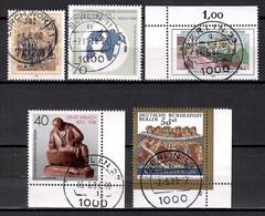 Berlin 1988, MiNr. 813 + 817 + 822 + 823 + 829, Gestempelt; Berl.2 - Gebruikt