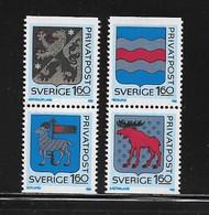 SUEDE ( EUSU - 1028 )  1983  N° YVERT ET TELLIER  N° 1215/1218  N** - Ungebraucht