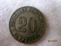 Germany: 20 Pfennig 1892 A - 20 Pfennig