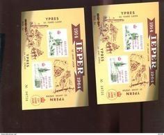 Belgie Erinno E101 Ypres WWI Queen Of England Visit 13/6/1966 OCB 2.5€ RR Pair + Unpair Number 48062 46119 - Commemorative Labels