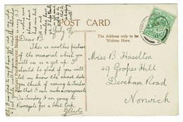 Ref 1466 - 1911 Postcard Queen Victoria Memorial Buckingham Palace London - Harrison Stamp - Storia Postale