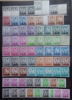 BELGIE    ZM Koning Boudewijn  Type Marchand - Kleurnuances / Fosfor / Rolzegels   Postfris **  Fac 355 Bfr. - 1953-1972 Anteojos