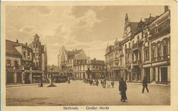 STERKRADE - 1923 - Grosser Markt -  Belgischer Soldat Seiner Familie - Im Umschlag Verschickt - Oberhausen - Oberhausen