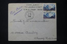 RÉUNION - Enveloppe Commerciale De Saint Denis Pour Annecy En 1948 - L 88911 - Storia Postale