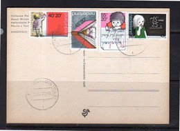 Kinderzegel Serie Op Molen Windmill Kinderdijk (52) - Briefe U. Dokumente