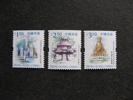 HONG-KONG : TB Série De Timbres De Carnets, Dentelés Sur 3 Cotés, N° 913a, 918a Et 919a, Neufs XX. - Nuevos