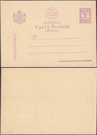 Romania - 1 L Carol II. Military Stationery Card MiNr. P 86. Carte Postala Militara. - Enteros Postales